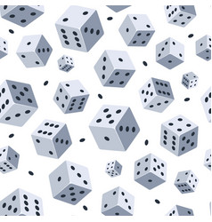 dice pattern seamless background with vector image