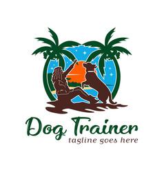 dog training logo design template vector image