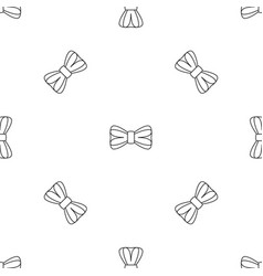 elegance bow tie pattern seamless vector image