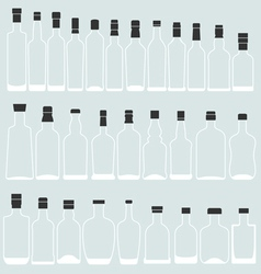 Empty bottle shape vector image