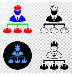 engineer hierarchy eps icon with contour vector image