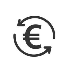 Euro transaction icon vector
