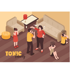 Family conflicts background vector