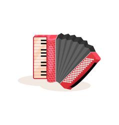 Flat icon red accordion portable vector