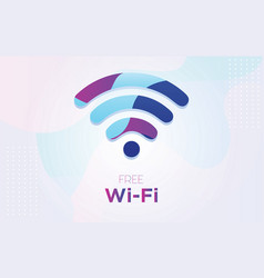 free wifi symbol with dynamic textured background vector image