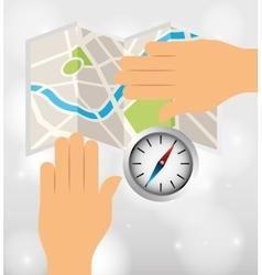 global positioning system design vector image