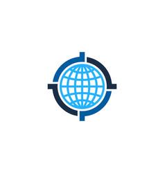 globe target logo icon design vector image