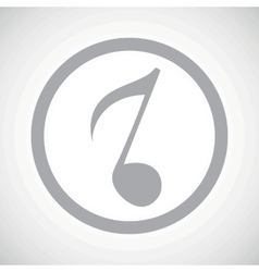 Grey 8th note sign icon vector