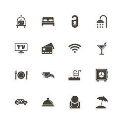 hotel - flat icons vector image
