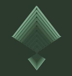 Isometry volumetric pyramid vector