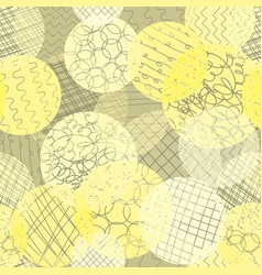 layered dots different opacity yellow lime white vector image