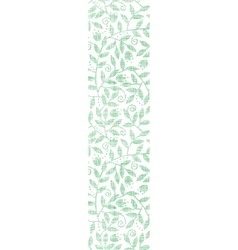 Leaves and swirls textile vertical seamless vector