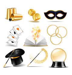 Magician symbol set vector