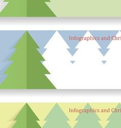 Modern Christmas infographics vector