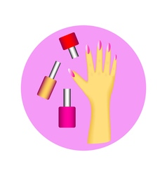 nail polish in circle vector image