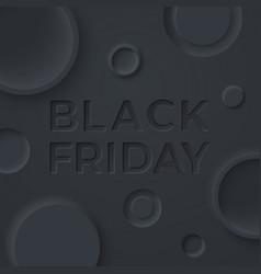 neumorphism style background black friday sale vector image