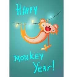 New Year symbol Monkey 2016 vector image