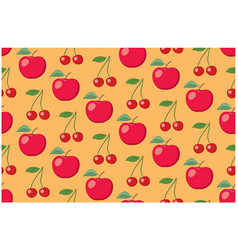 orange fruit seamless pattern with apples vector image