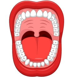 Parts of Human mouth Open mouth vector image