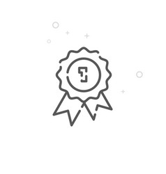 Quality seal line icon symbol pictogram sign vector
