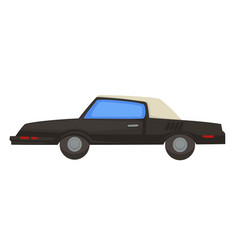 retro 80s vehicle car with folding ro1980s vector image