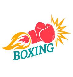 Retro logo for a boxing vector