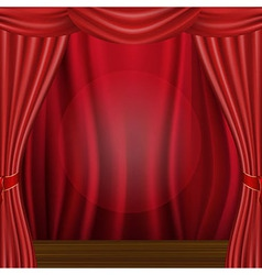 Scene And Curtains vector