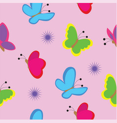 seamless texture consisting of butterflies vector image