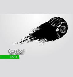 silhouette of a baseball ball vector image