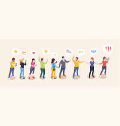 social audience influence concept opinion leader vector image