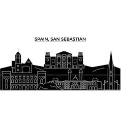 Spain san sebastian architecture city vector