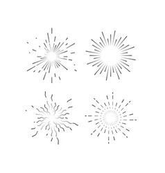 starburst or sunburst collection vector image