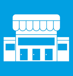 supermarket building icon white vector image