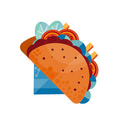 Tacos traditional mexican food vector