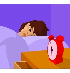 teenager waking up cartoon vector image