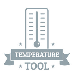 temperature tool logo simple gray style vector image