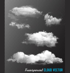 Transparent set of cloud vector
