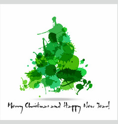 Tree blots christmas decoration vector