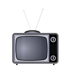 tv set retro old vintage device vector image