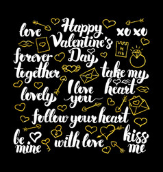 Valentine day calligraphy design vector