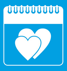 Wedding date day on calendar icon white vector