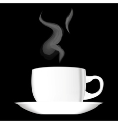 White hot cup of coffee vector image vector image