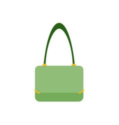 women handbag flat icon blue modern bag isolated vector image