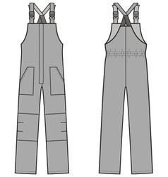 Work overalls vector