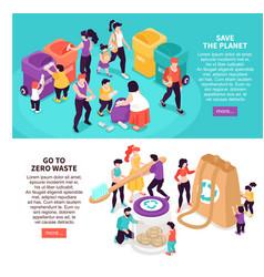 zero waste banners set vector image