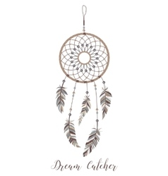 American indians amulet dream catcher with vector