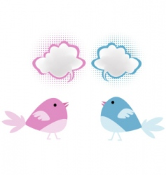 bird chatter vector image