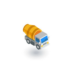 concrete mixing truck isometric flat icon 3d vector image vector image