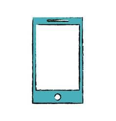 drawing smartphone phone technology device vector image