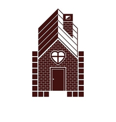 Family house abstract icon harmony and love vector image